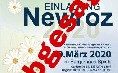 Newroz abgesagt