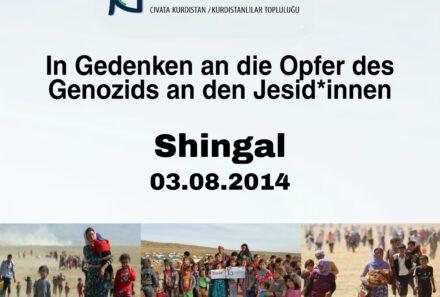 In Gedenken an die Opfer des Genozids an den Jesid*innen