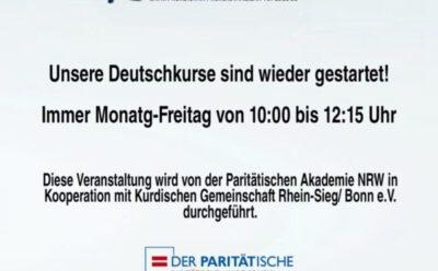 Start der Deutschkurse