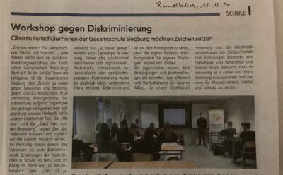 Antidiskriminierungsworkshops an Schulen im Rhein-Sieg-Kreis