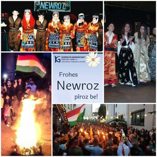 Newroz pîroz be  –  Ein frohes Newroz-Fest