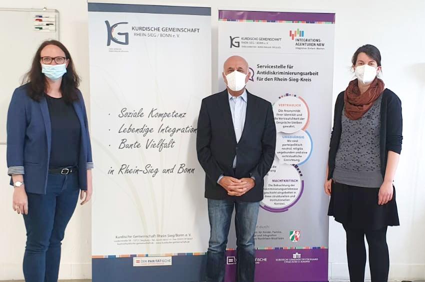 Besuch von Katharina Gebauer bei neuen Servicestelle für Antidiskriminierungsarbeit für den Rhein-Sieg-Kreis
