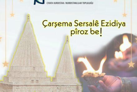 Wir wünschen allen Êzîd*innen ein frohes und friedliches neues Jahr.