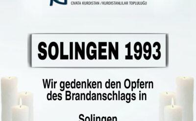 Brandanschlag von Solingen jährt sich