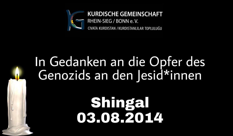 Gedenken zum siebten Jahrestag des Genozids an den Jesid*innen