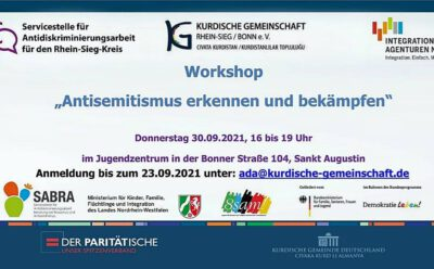 Workshop Antisemitismus erkennen und bekämpfen 30.09. Sankt Augustin